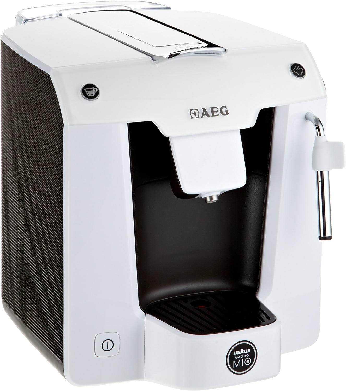 AEG LM 5100 - Cafetera de cápsulas con batidor de leche, color blanco/marrón: Amazon.es: Hogar