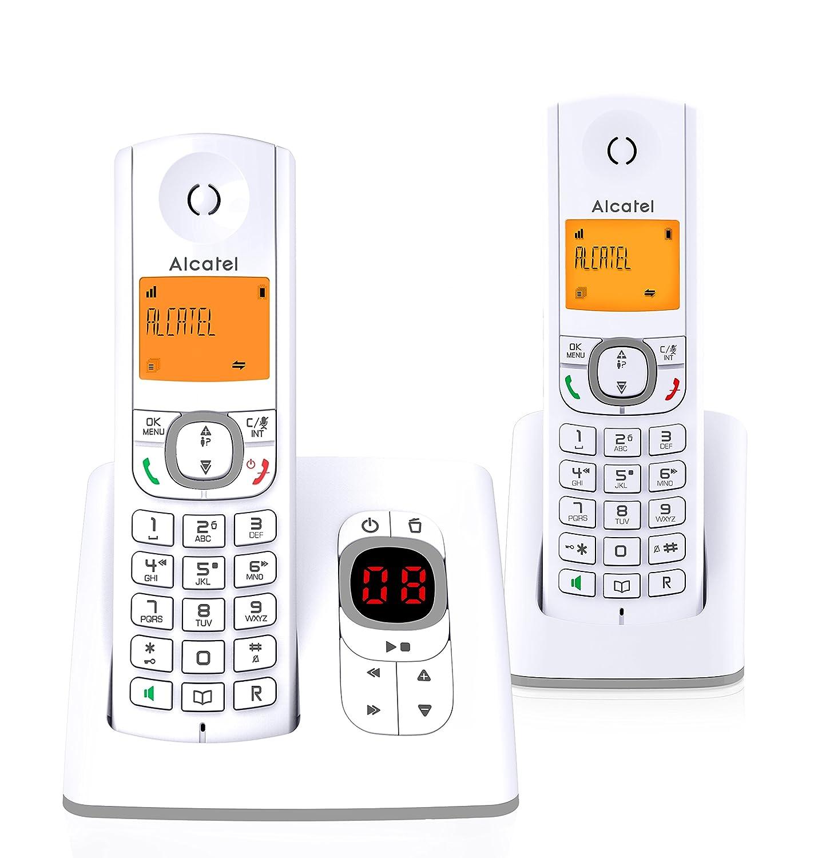 Alcatel F530 Té lé phone sans Fil Ré pondeur avec Un combinent Supplé mentaire Gris Alcatel F530 Voice Duo FR GRY