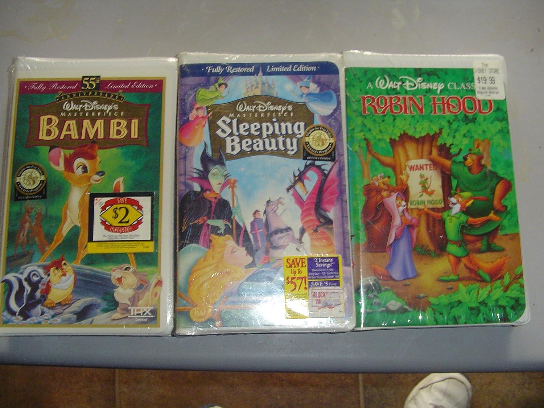 Amazon Com Walt Disney Vhs Tapes Sleeping Beauty Robin Hood