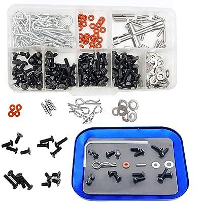 240Pcs RC Screw Kit Repair Tool Sets Hardware Fastener for 1//10 RC Model Car DIY Parts Replacement