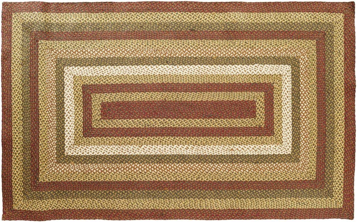 COUNTRY PRIMITIVE RUSTIC OVAL STAIR TREAD JUTE RUG VHC BRANDS ~ TEA CABIN