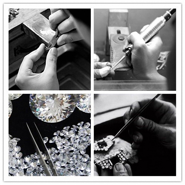 J.V/énus Damen Schmuck Damen Kleine Perle Halskette 925 Sterling Silber Zirkonia Anh/änger mit Etui Italien kette 45cm