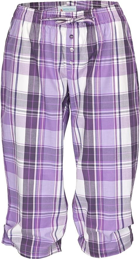 Damen Pyjama Capri 100/% Baumwolle Sommer Collection