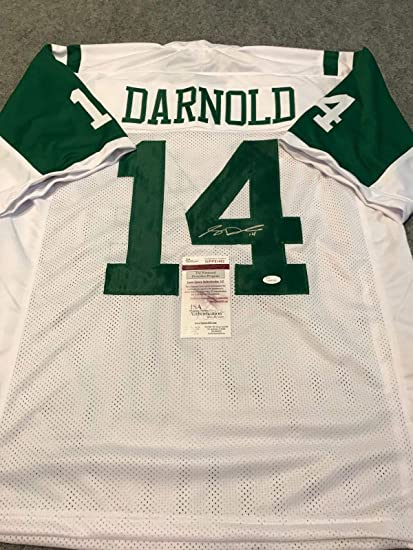 N.Y. JETS SAM DARNOLD AUTOGRAPHED SIGNED JERSEY JSA COA at Amazon s ... 77274482c