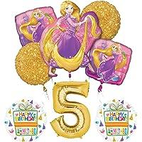 NEW! Tangled Rapunzel Disney Princess 5th BIRTHDAY PARTY Balloon decorations supplies