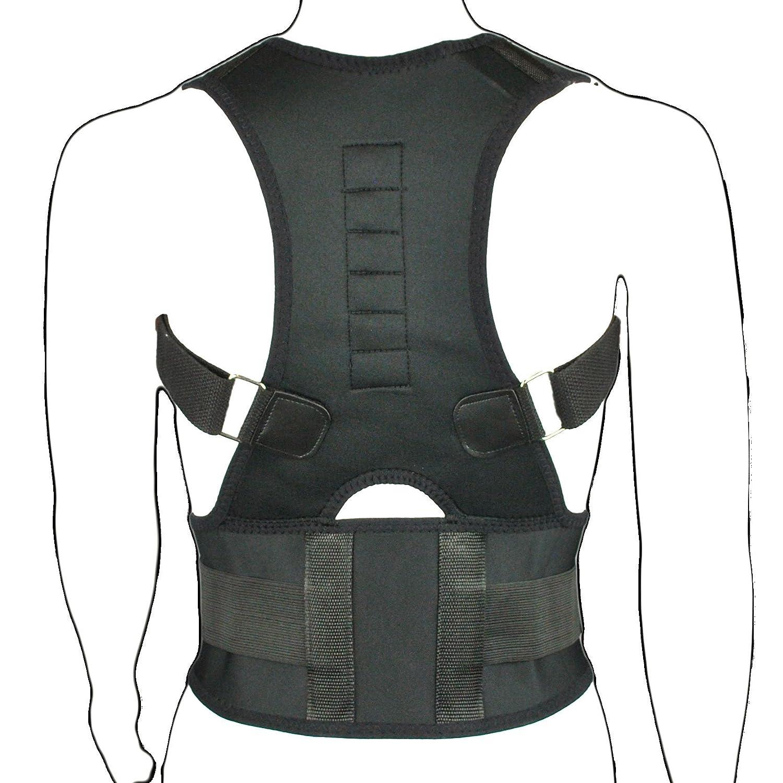 Provectus - Corrector postural de espalda y hombros (magnético, transpirable, neopreno), color negro: Amazon.es: Salud y cuidado personal