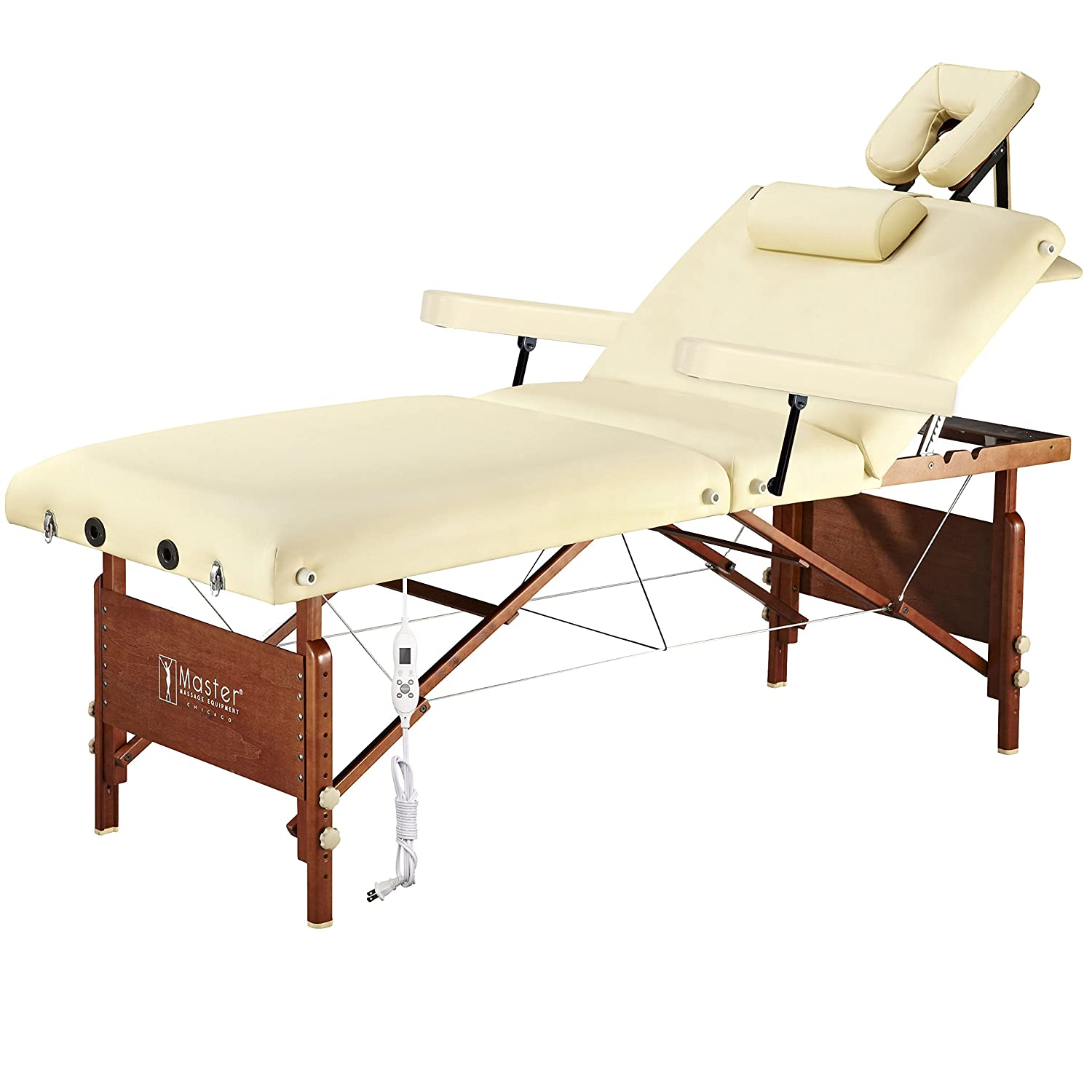 Amazon.com: Master Massage Del Ray Therma Top Massage Table Salon ... for Massage Bed Top View  54lyp