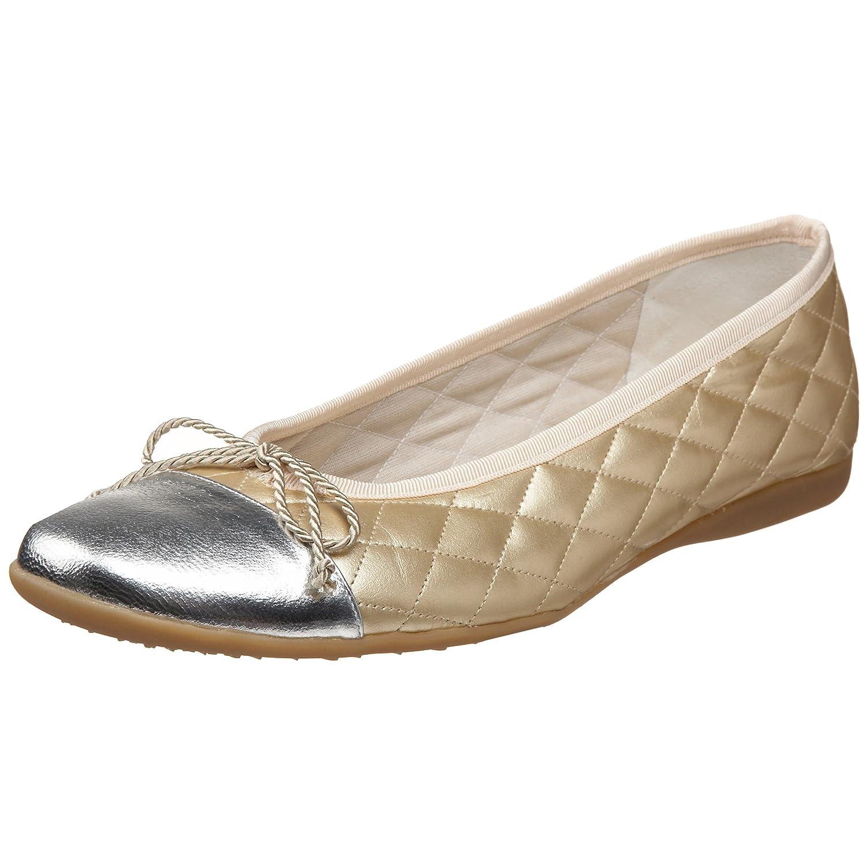 French Sole FS/NY Women's Passport Ballet Flat B00295S9XY 10 B(M) US|Silver/Gold