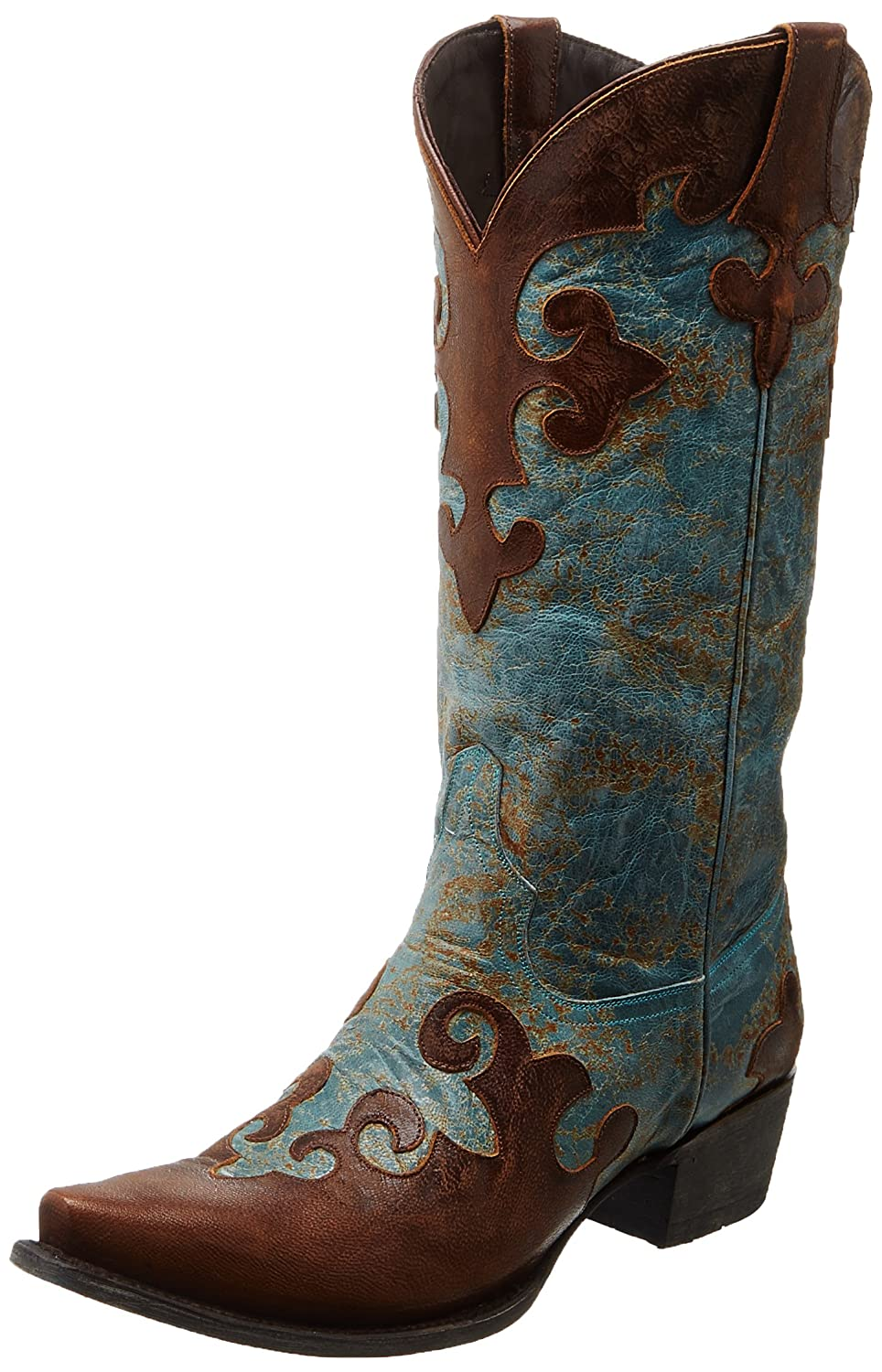 Lane Boots Women's Dawson Western Boot B007XXYIKA 6.5 B(M) US|Turquoise/Brown