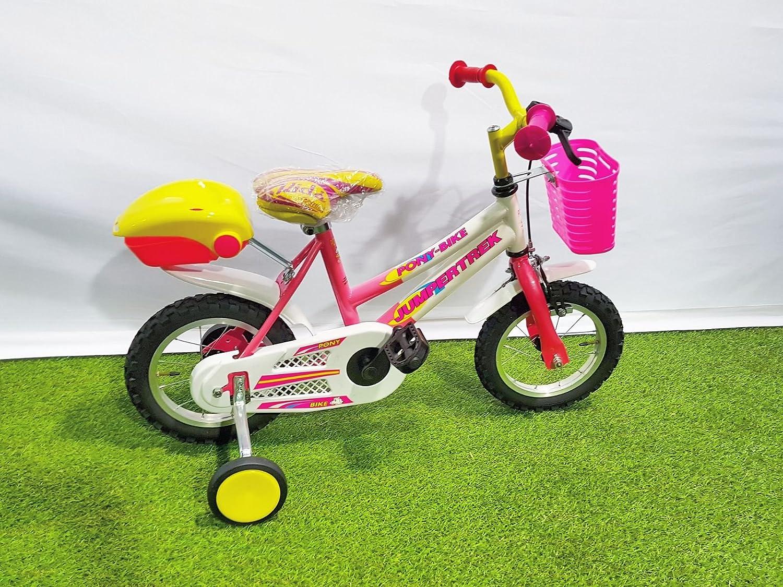 Kinder-Fahrrad Cinzia Jumpertrek Pony Mädchen Jungen, 12 Zoll (30,5 cm), mit Stützrädern