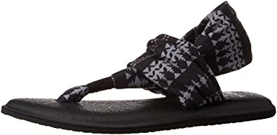 Women's Shoes Sanuk Yoga Sling 2 Prints Womens Footwear Sandals Sandals Shoes Black Natural Koa Tribal