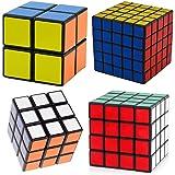 Ganoteck Black Cube Puzzle Bundle,4 Pack Speed Cube Sets,Puzzle Toy Gift Box,Shengshou rubik's Cube