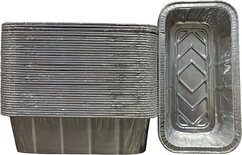 "Waytiffer 50 Pack Loaf Pans Disposable Aluminum Foil 2Lb Bread Tins Standard Size - 8.5"" X 4.5"" X 2.5"""