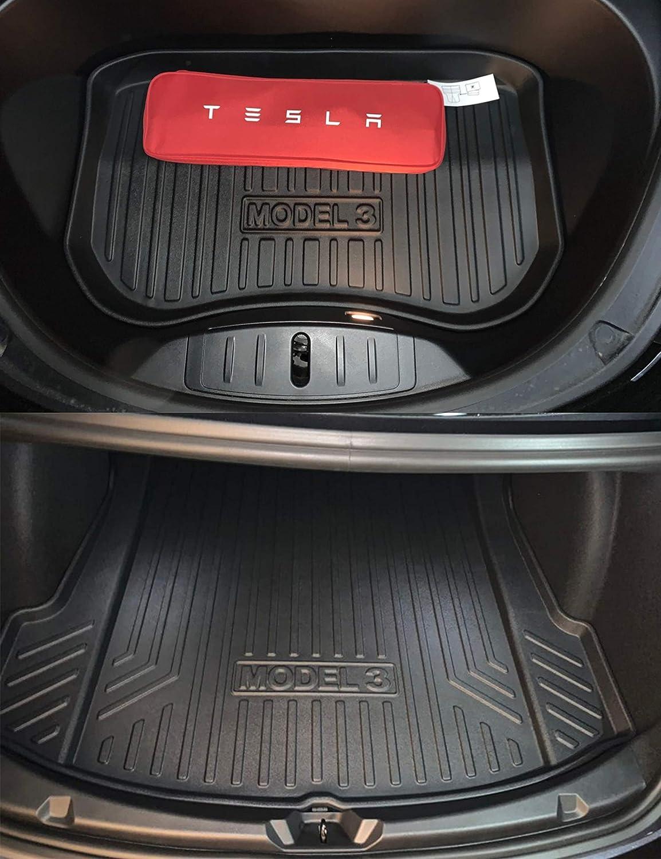 All Weather Tapis de Coffre Complet pour Tesla Model 3 Topfit Soft Rubber Cargo Liner
