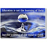 Amazon Price History for:Education Is Not the Learning of Facts but the Training of the Mind to Think - Albert Einstein Quote - NEW Classroom Motivational Poster
