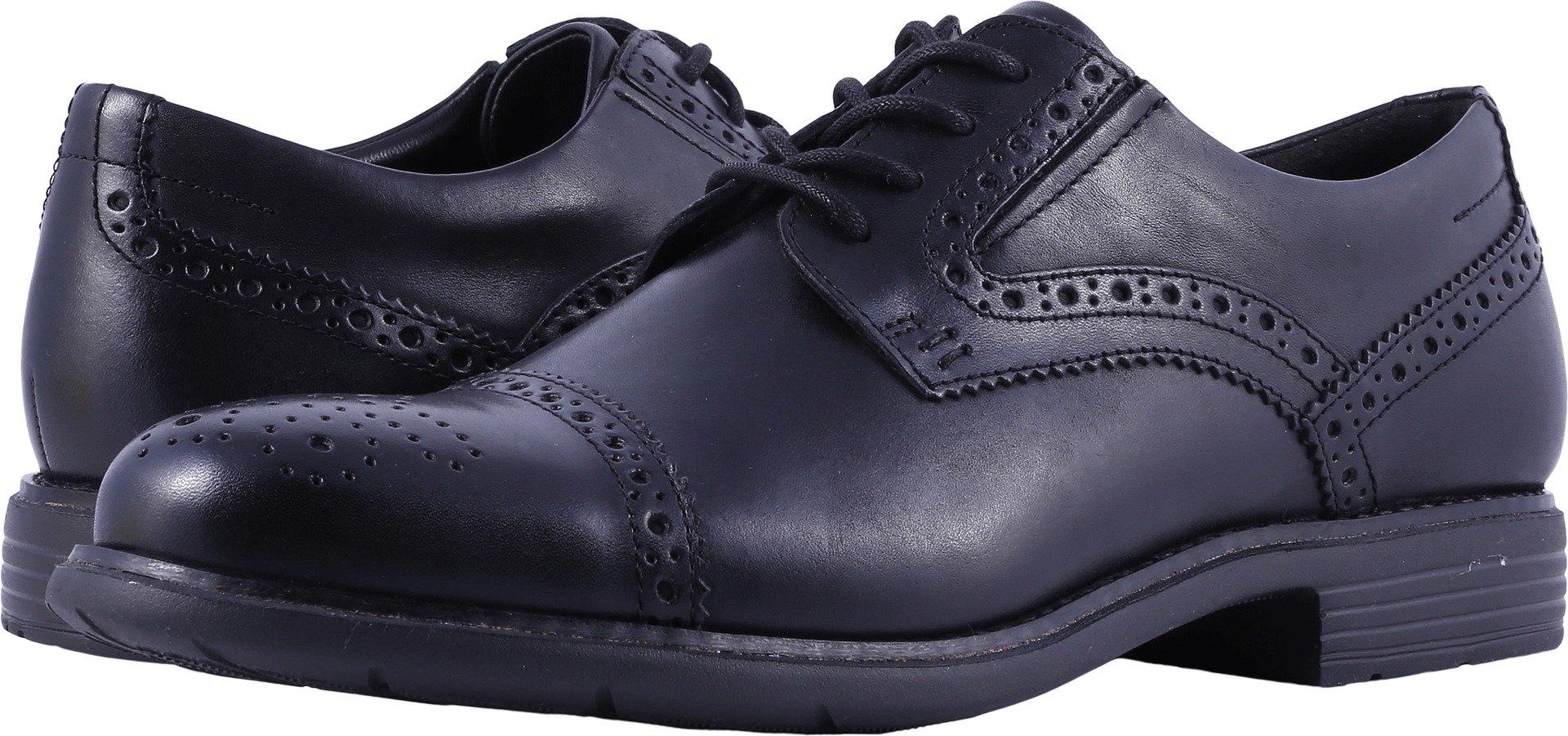 Rockport Men's Total Motion Dress Cap Toe Shoe, black, 8.5 M US