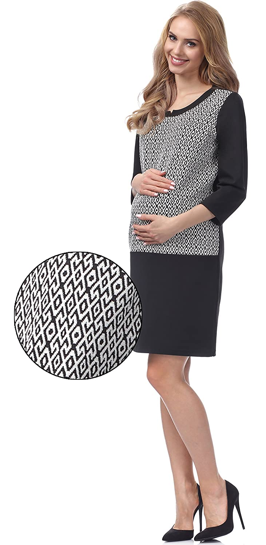 Be Mammy Vestido Corto Elegante Premam/á Vestido de Embarazo Lactancia BE20-145