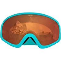 Traverse Sports Iris Youth Ski Snowboard/Snowmobile Goggles, Tangerine/Teal