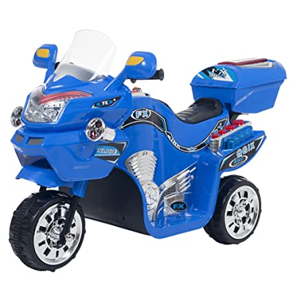 Lil' Rider 3 Wheel Motorcycle Trike for Kids – Battery Powered Ride on Toys  for Boys and Girls, 2-5 Year Old - Blue FX
