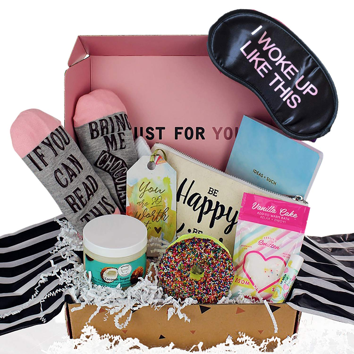 Milky Chic Special Women's Birthday Gift Box Basket for Mom, Wife, Sister, Friend, Pack of 8 Fun Unique Gifts For Her by Milky Chic
