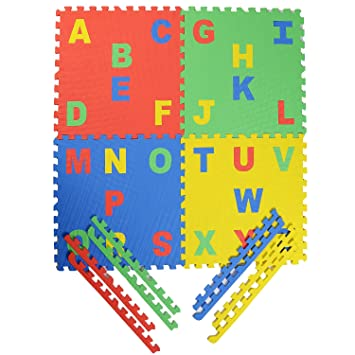 Archana Kids EVA Puzzle Play Mat With English Pop Out Alphabets