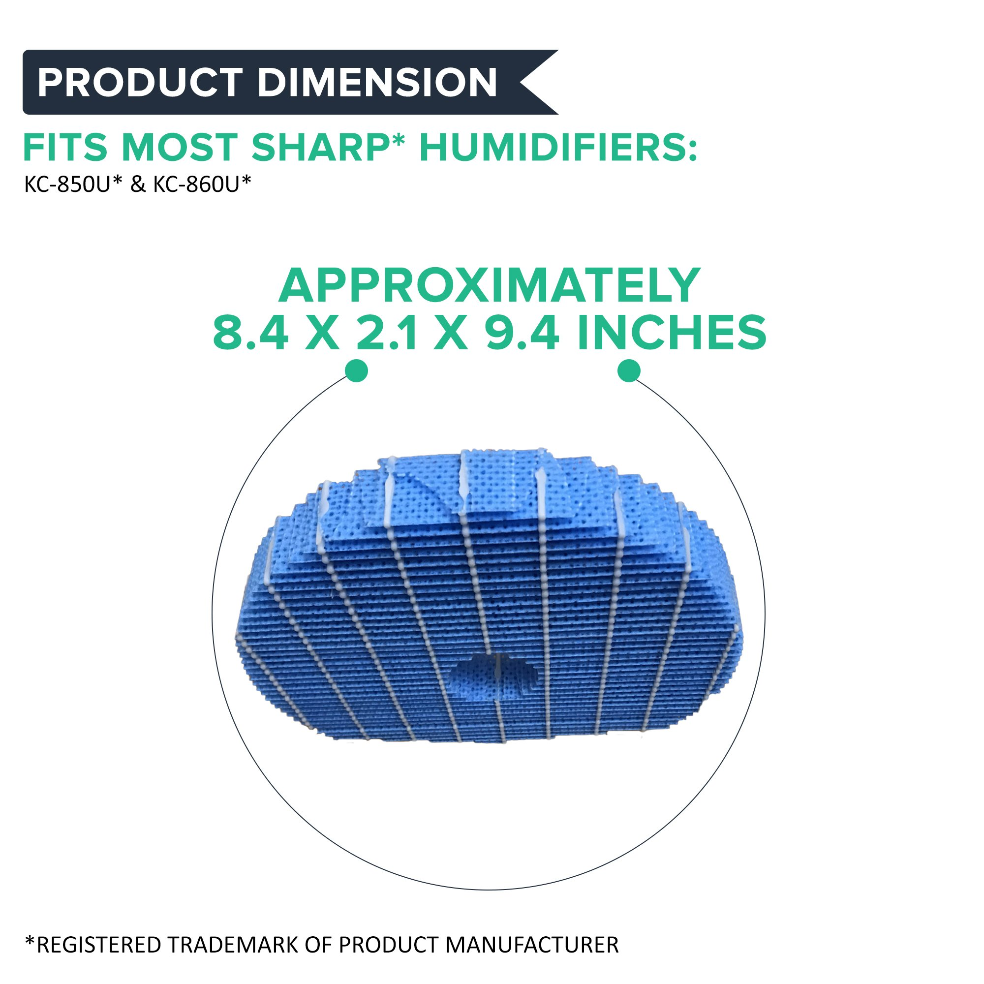 Think Crucial Replacement For Sharp Humidifier Filter Fits KC-850U & KC-860U by Think Crucial (Image #4)