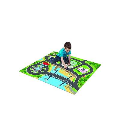 Paw Patrol Original Mega Playmat with 1 Vehicle: Toys & Games
