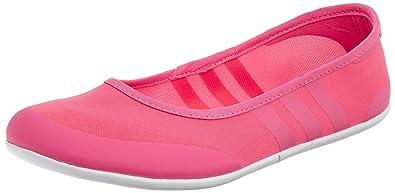 4b62e343b3fb Adidas Neo Women s Sunlina Ballet Slip on Flats Shoes (UK 7, Pink ...