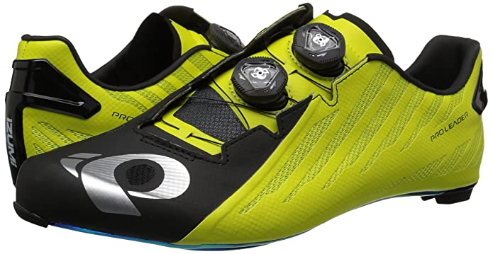 Amazon.com | Pearl iZUMi Mens PRO Leader v4 Cycling Shoe, Black/Lime, 44 | Cycling