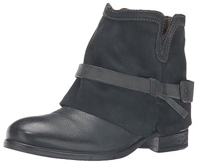 Miz Mooz Women's Seymour Ankle Bootie, Blue, ...