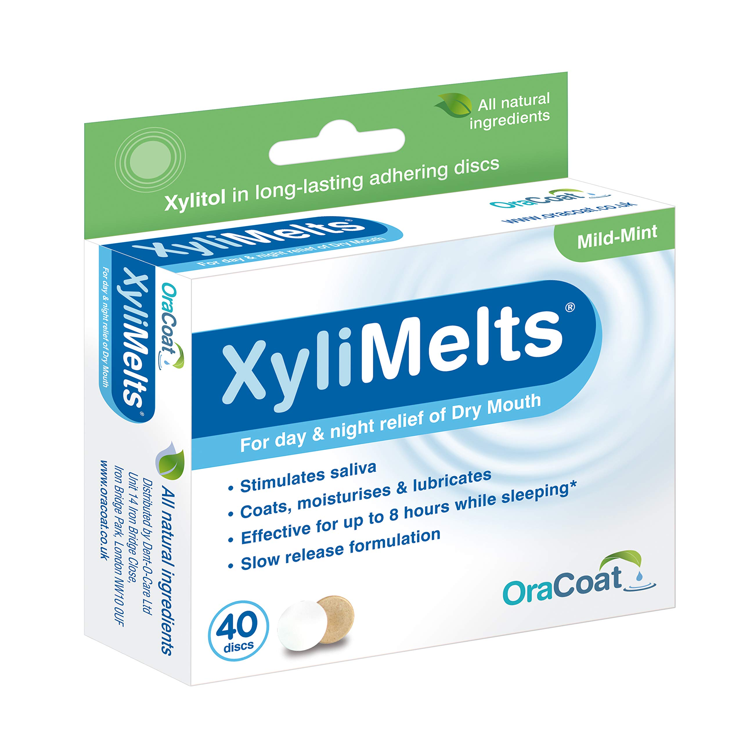 Xylimelts For Dry Mouth-M Size 40ct