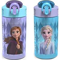 Zak Designs Disney Frozen 2 Plastic Water Bottle Set, 2 Piece Set, FRZA-7089-AMZ
