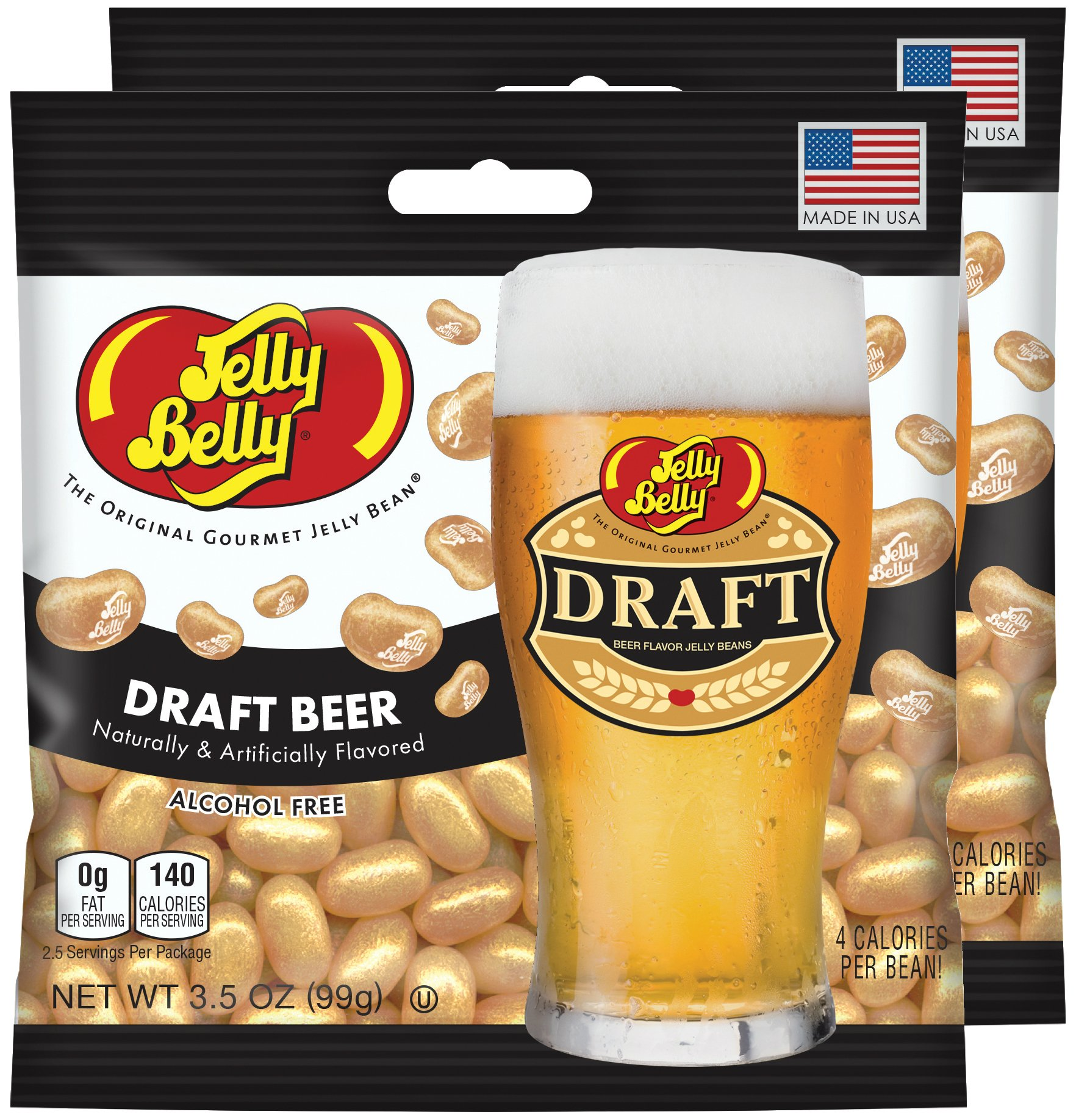 Jelly Belly Draft Beer Jelly Beans, 3.5 oz Bag (Pack of 2) by Jelly Belly