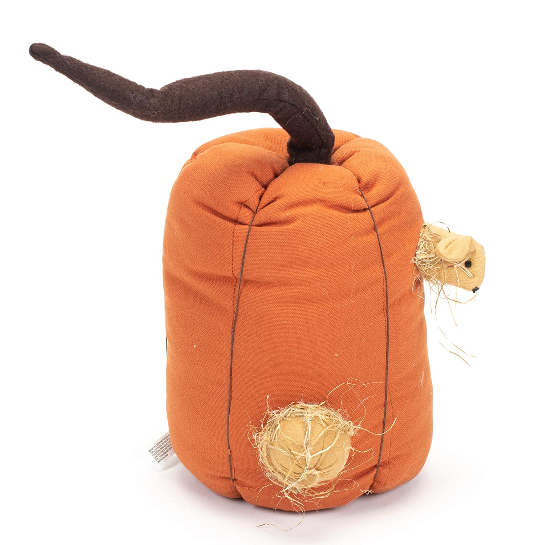 Honey and Me Tall Pumpkin Nested Mouse Fall Medley 15 x 9 Cotton Blend Harvest Pillow