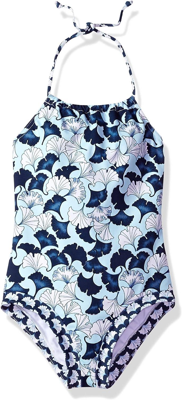 SwimZip Girl Long Sleeve Rash Guard Swimsuit Set UPF 50 Zip18 18GRLLSRGSET
