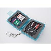 Ares Foto MC-6B Speicherkarten Schutzbox/Memory Card Case/Card Safe/Tasche/Etui für 4 x SD Karten und zusätzlich 2 Compact Flash Karten (CF Cards)
