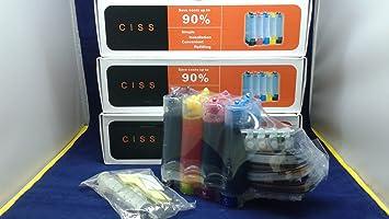 Amazon.com: 3 x sistemas continuo tintas Ciss CIS, para uso ...