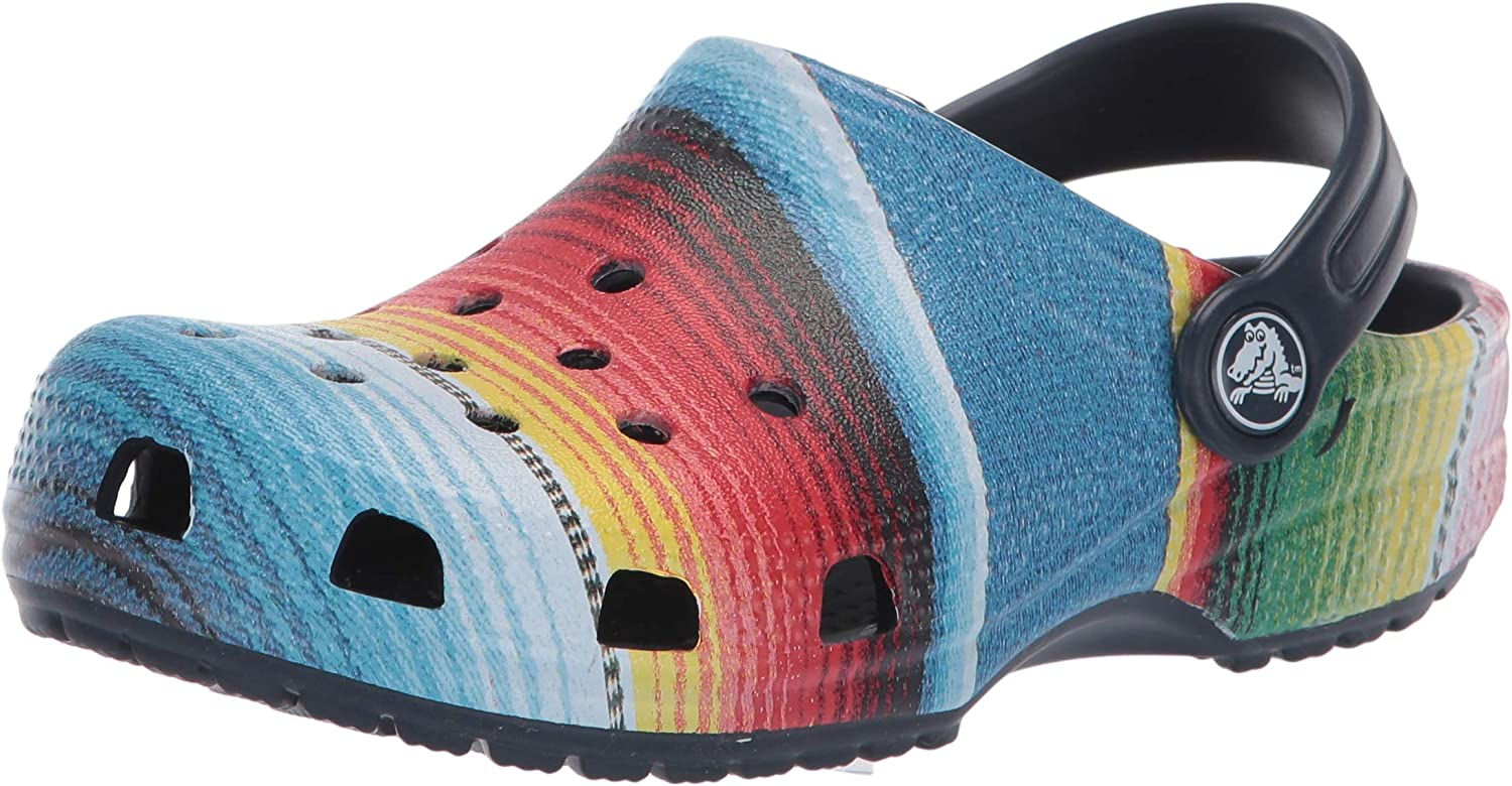 Crocs Kids Classic Graphic Clog   Slip on Toddlers   Water Shoes