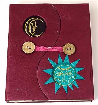 Notizbuch aus Lokta Papier in 3 Farben 14*12*1,5 cm