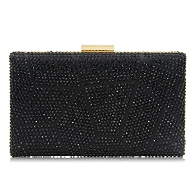 54b86fab416e Yekajlin Clutches for Women Rhinestone Glitter Clutch Purse Evening Bag