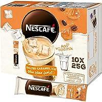 خليط القهوة المثلجة بنكهة الكراميل المملح من نسكافيه، وزن الكيس 25 غرام (10 اكياس)