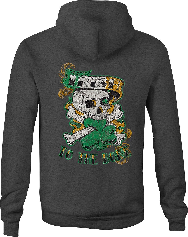 Zip Up Hoodie Irish to The Bone Hooded Sweatshirt for Men