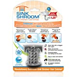 SinkShroom SSGRA988 The Revolutionary Sink Drain Protector Hair Catcher/Strainer/Snare, Gray
