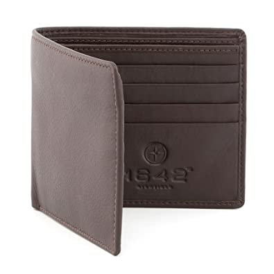 Gift Boxed RRP £25.00 Genuine Leather Mens Wallet by 1642 LARGE CAPACITY