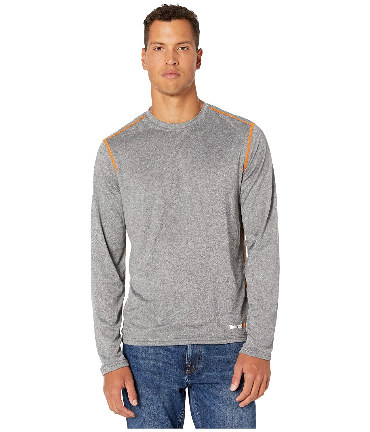 Timberland Mens Wicking Good Sport Long-Sleeve T-Shirt Work Utility T-Shirt