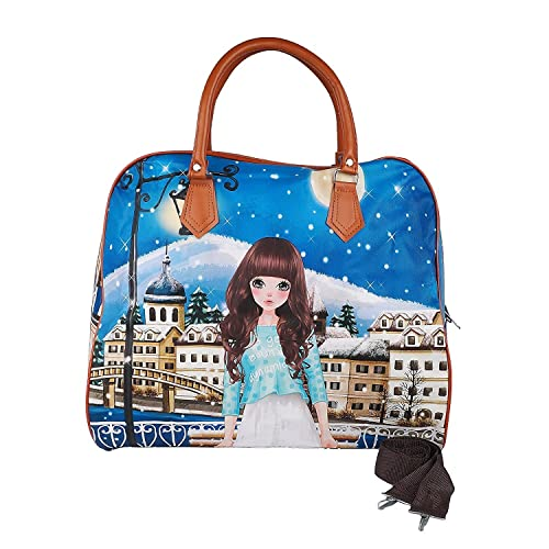 4ad51dd4a8 SHOPPOWORLD Women s Digital Prints Hand Bag Shopping Bag Carry Bag  Multicolor  Amazon.in  Shoes   Handbags