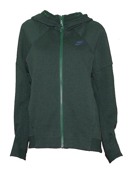 94c97b7a1d62 Amazon.com  Nike Womens Tech Fleece Full Zip Hoodie Sweatshirt Green ...