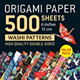 Origami Paper 500 sheets Japanese Washi Patterns