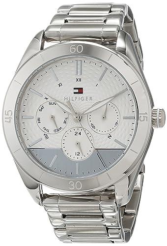 Tommy Hilfiger Reloj Multiesfera para Mujer de Cuarzo con Correa en Acero Inoxidable 1781882: Amazon.es: Relojes