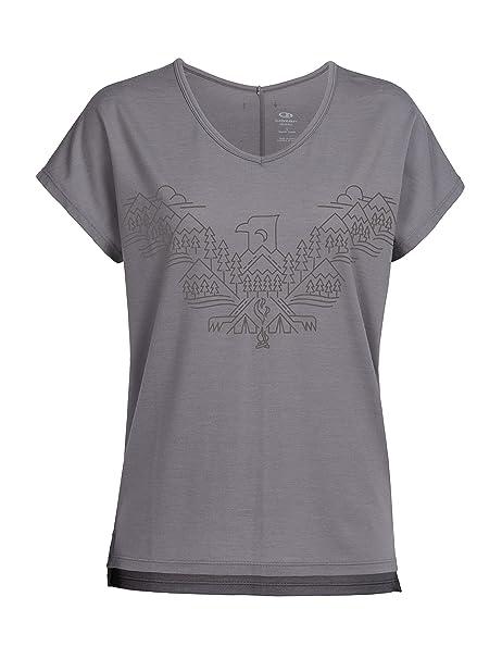 66ad558bfd8 Amazon.com  Icebreaker Merino Women s Aria Short Sleeve V-Neck Shirt ...